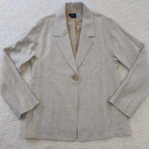 Saks Loro Piana Linen Merino Wool Silk Blazer 10